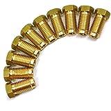 """Raccords de tuyaux de frein en laiton 3/8"""" x 20 UNF mâle 10 PACK pour tuyau 3/16"""" FL15"""