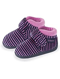 Isotoner Chaussons bottillons velcro fille rayures Fille