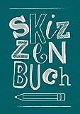 Skizzenbuch in Leinen gebunden mit Folienprägung Silber: 100 Seiten, 170 g/m2, weißes Papier, Einbandfarbe Grün