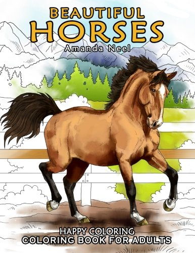 Beautiful Horses - Coloring Book for Adults por Happy Coloring