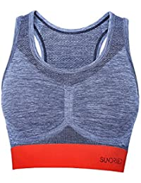 Sundried Women's Crop Top Racerback Sports Bra by UK Ethical Activewear Brand