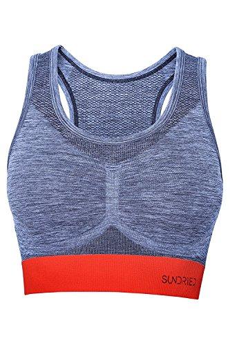 Damen Crop-Top Racerback Sport-BH von britischer Ethical Activewear Marke Sundried® (Large)