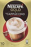 Nescafé Gold Typ Cappuccino Entkoffeiniert, Löslicher Kaffee, Faltschachtel mit 10 x 12,5g Portionsbeutel