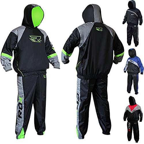 RDX MMA Sauna Suit Non Rip Sweat Suit Track Weight Loss Slimmimg Fitness Gym Exercise Training