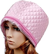 KUMAKA Hair Beauty Nourishing Steamer Satin Thermal Treatment Cap ( Pink,k436)