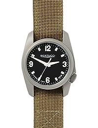 Bertucci h10302Unisex titanio banda de nailon de oliva de patrulla de patrimonio negro Dial reloj