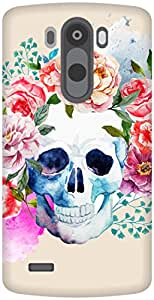 The Racoon Grip Pale Watercolor Skull hard plastic printed back case / cover for LG G3