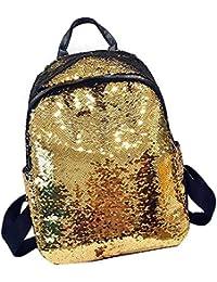 d202003540 Fancyku Magical Reversible Mermaid Sequin Backpack DIY Sequins Shoulder Bag  Satchel Flip Glitter Mermaid Travel Backpack