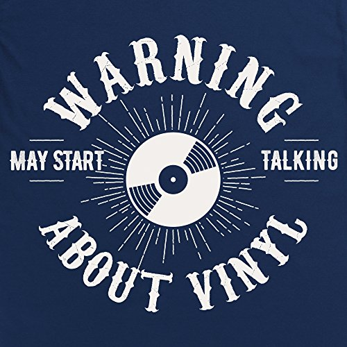 May Start Talking About Vinyl Langarmshirt Funny Novelty Gift, Herren Dunkelblau