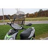 Wohnstyle24 Universelles Windschutzschild 033 grau Windschild für Roller Motorrad Mofa Motorroller Quad ATV Schutzscheibe Windschutz transparent