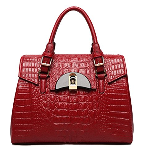 Yan Show, Borsa a tracolla donna marrone Brown Wine Red