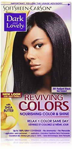 Dark and Lovely Coloration capillaire Reviving - Enrichie en huiles hydratantes - Couleur 391 - Noir éclatant