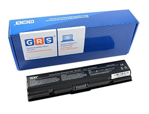 GRS Batterie d'Ordinateur Portable pour Toshiba Satellite A200, A205, A210, A215, A300, A305, A500, A505, remplace : PA3534U-1BRS PA3533U, PA3533U-1BAS, PA3534U-1BAS, PA3534U-1BRS, PA3535U-1BAS, PA3535U-1BRS,, ordinateur portable Batterie 4400 mAh 10,8 V