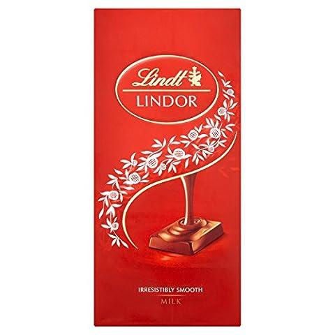 Lindt Lindor Milk Chocolate Bar 100 g (Pack of 10)