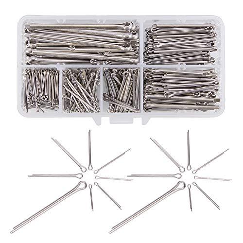 Increway Kurbelkeil-Set aus 304-Edelstahl, für Automobil-Mechaniker und kleine Motor-Reparaturen, 400 Stück (Cotter Pin 1 1/2)