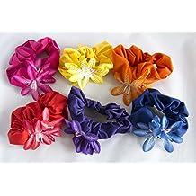 Pack de 6 coleteros de tela con flores. Envío GRATIS 72h 9ae9d261d208