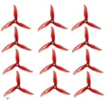 UUMART 6 Pair DALPROP T5045C Cyclone 5 Inch 3 Blade Propeller Clover Prop for RC Drone FPV Racing-Crystal Red