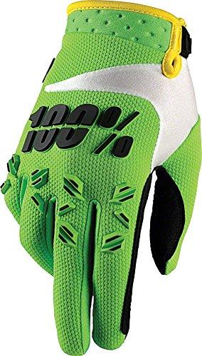 100% Prozent Airmatic Handschuhe Verstärkt MTB DH MX Motocross Enduro Offroad Quad, HU-GLO-0005, Farbe Grün, Größe XXL