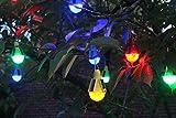 Solarleuchten im 4er Set zum Aufhängen Solarlampe Partyleuchten Laternen (Mehrfarbig)