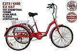 Jorvik Dreirad für Erwachsene mit leichtem 26-Zoll-Aluminium-Rahmen (66cm), mit großen Rädern