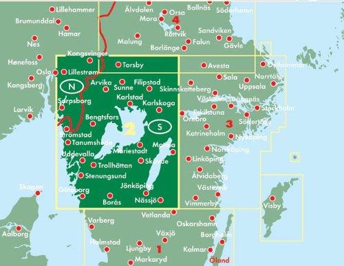 Schweden Südwest - Göteborg - Vänersee - Karlstad, Autokarte 1:250.000, Blatt 2, freytag & berndt Auto + Freizeitkarten: Alle Infos bei Amazon