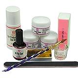 Coscelia Kit Unghie Arte 75ml Liquido Acrilico Polvere Acrilica trasparente bianco rosa Attrezzi Nail Art