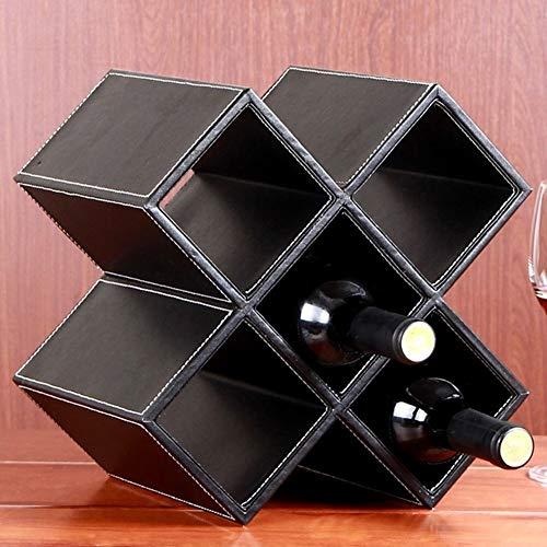 Supports à vin Vintage Creative Bar Comptoir Grille de table de table porte-bouteilles affichage étagère de rangement - Aucun assemblage requis, 28 X 20 X 28CM (Color : Coffee Color)