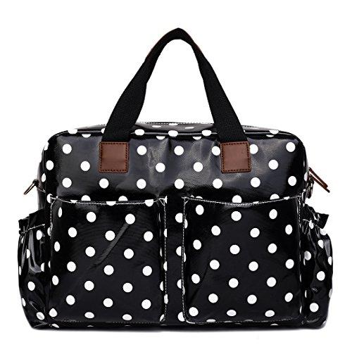 miss-lulu-4-piece-polka-dot-baby-nappy-changing-bag-set-black-l1501d2-bk