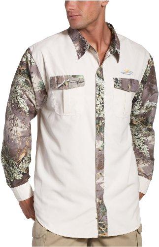 Realtree Herren Camo (Lange Ärmel Camp Shirt Max-1 Cream
