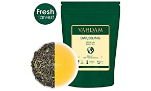 VAHDAM 2017 First Flush Organic Loose Leaf Black Darjeeling Tea - 100g
