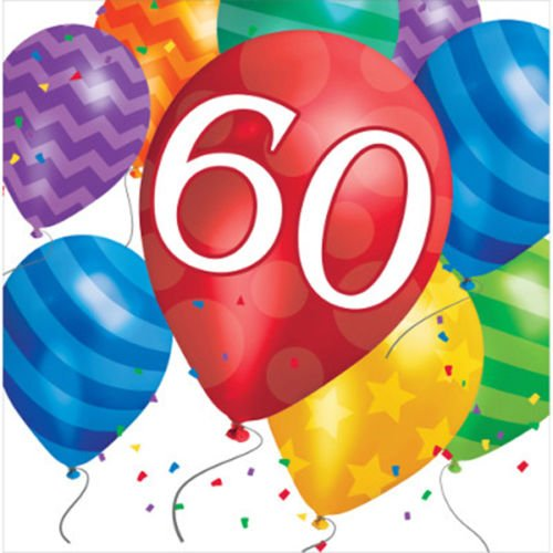 60. Geburtstag Ballon Blast Servietten Badger Inks Tonerpatronen