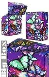 1Stk Zigarettenbox, Big Box mit verschiedenen Schmetterlingsmuster Hardcover Schachtel
