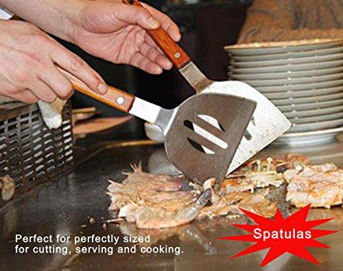 51vJIkZMdLL - POLIGO 9-teiliges Grill-Grill-Zubehör für den Grill Grill-Set - Spatel, Fleischklauen, Würze Flaschen, Fleisch-Injektor und ein praktisches Design Gürteltasche für die Lagerung - Ideal für das Kochen im Freien