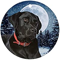 CafePress–Winter Black Lab–Decorazione, vacanza decorazione natalizia