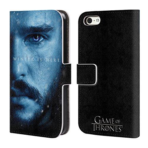 Officiel HBO Game Of Thrones Jon Snow Winter Is Here Étui Coque De Livre En Cuir Pour Apple iPhone 5 / 5s / SE Jon Snow