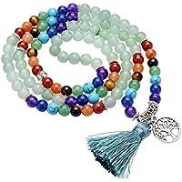 JOVIVI 7 Chakra Edelstein Schmuck, 108 Perlen 6mm Wickelarmband mit Lebensbaum Anhänger Tibetisches Buddha Armband... preisvergleich bei billige-tabletten.eu