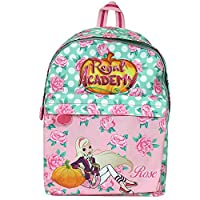 Regal Academy Backpack for Girls - Backpack for Kindergarten and Leisure with Adjustable Shoulder Straps and Rose from Regal Academy Series - Dimensions 38x26x16cm - Perletti