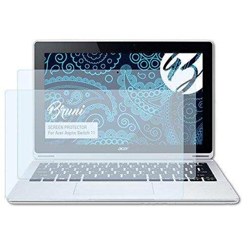 Bruni Schutzfolie kompatibel mit Acer Aspire Switch 11 Folie, glasklare Bildschirmschutzfolie (2X)