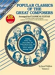 Popular Classics Vol 2 Bk/CD: Arranged for Classical Guitar (Progressive)