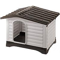 Feplast 87253099 Caseta de Exterior para Perros Dogvilla 70, Panel Lateral Que Se Puede Abrir
