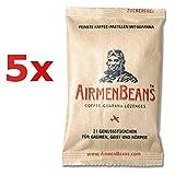 AirmenBeans Airmen Beans 5x Kaffee Pastillen Guarana 105 Stück, 5xDE1001