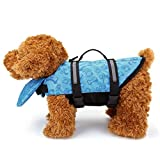 Mogoko Haustier Hund Schwimmhilfe für Hunde Doggy Rettungsweste Float Coat Wassersport Schwimmweste Hundeweste Hunde-Schwimmweste Storm mit Griff und Reflektoren Rosa Blau Gelb XS S M (XS, Blau)