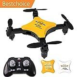Mini Faltbare Drohne, Rc Quadcopter mit Headless Modus , 2,4 Ghz, One Key Start/Landung, Pocket Drohne für Anfänger und Kinder ab 14, Geschenke für Jungen und Mädchen, Weiß (Faltbare Drohne)