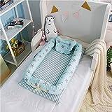 Luerme Baby Pod Nest Soft Pad Babybett Bett Secure Sleep Krippe mit Kissen (H)