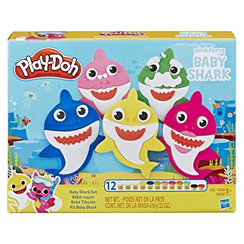 Hasbro Play-Doh - Baby Shark Playset con 12 Vasetti di Pasta da Modellare