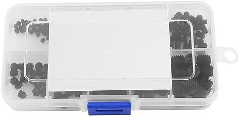 Allen Head Socket Hex Set Grub Screw Box Kit Socket Screw Assortment DIN916 M3-M8 (240 Pcs)