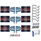 JAKABA Premium Quality Antique Copper Finish Stainless Steel and Alloy Curtain Finials with Heavy Supports - PACK of 12 Pcs. (Finials : 6 Pcs + Supports : 6 Pcs) : Curtain Brackets Set / Holders for Window / Door - (JKB170AC-03)