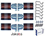 JAKABA Premium Quality Antique Copper Finish Stainless Steel and Alloy Curtain Finials with Heavy Supports - PACK of 12 Pcs. (Finials : 6 Pcs + Supports : 6 Pcs) : Curtain Brackets Set / Holders for Window / Door - JKB1703AC