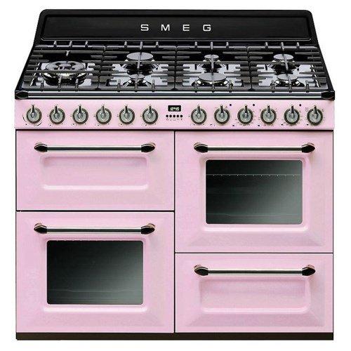 Smeg Cucina TR4110RO con 7 zone cottura finitura rosa da 110cmcod. TR4110ROcod. EAN: 8017709184315Caratteristiche piano cottura: 7 zone di cottura 1 bruciatore a gas ultrarapido (Potenza 4200 W) Caratteristiche forni: Forno principale, superiore: For...