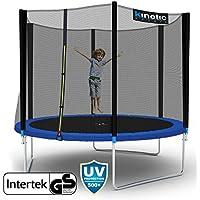 Kinetic Sports Outdoor Trampolin Gartentrampolin für Kinder und Erwachsene mit Randabdeckung und Sicherheitsnetz Ø 183 cm bis 490 cm